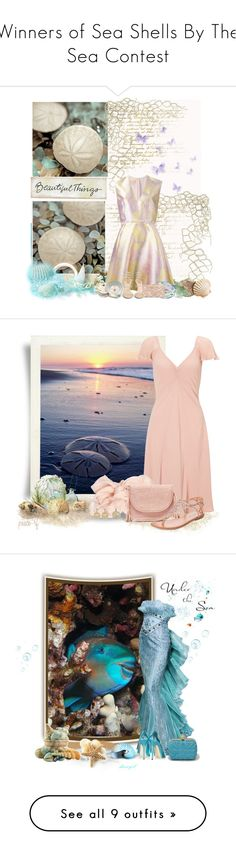 """""""Winners of Sea Shells By The Sea Contest"""" by babygurl7191 ❤ liked on Polyvore featuring WALL, Universal Lighting and Decor, Pier 1 Imports, Giambattista Valli, Fox Run, Swarovski, René Caovilla, Edie Parker, Chanel and Ghost"""