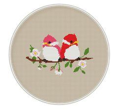 Cross stitch pattern cross stitch birds cross door MagicCrossStitch
