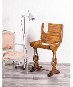 Mesa Costurero Antigua De Castaño  #mueblesbaratos #mueblesrebajados #muebleseconomicos #sale #rebajas #descuento #decoracion #casa #interior #interiores #design #liquidacion #outled #saldillo #mueblessegundamano #diy #mueblesantiguos #mueblesvintage #mueblesdemadera #mueblesreciclados Interiores Design, Chair, Furniture, Diy, Home Decor, Cheap Furniture, Antique Furniture, House Decorations, Vintage Furniture