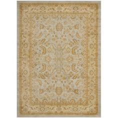 Safavieh Marcus Rectangular Blue Floral Woven Area Rug (Common: 5-ft x 8-ft; Actual: 5.25-ft x 7.5-ft)