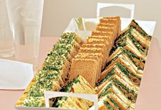 Tea sandwich recipes: Ham & Brie, Bacon & Egg, Cucumber & Arugula