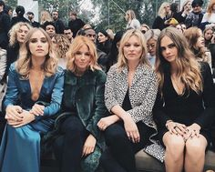 Badass bitches front row at Burberry