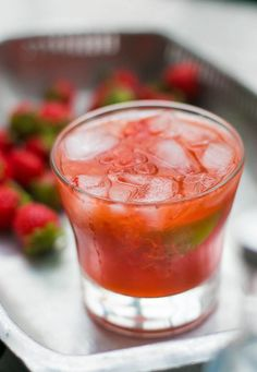Strawberry Cooler Cocktail recipe #Cocktail #Recipe #Happyhour #Drinks