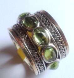 Ring spinner ring silver gold designer jewelry by Bluenoemi, $250.00