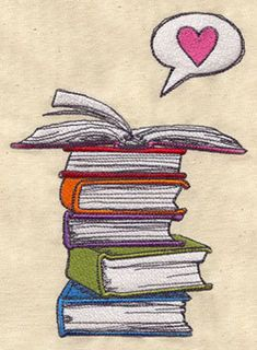 Embroidery Designs at Urban Threads - Book Love Embroidery Applique, Machine Embroidery Designs, Embroidery Patterns, Towel Embroidery, Book Pillow, Reading Pillow, Urban Threads, Embroidered Towels, Book Worms