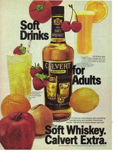 1978 Calvert Extra American Soft Whiskey Drinks for Adults Magazine Ad