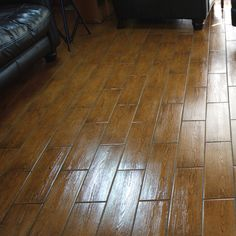 Rich Brown Wood Looking Slightly Textured Ceramic Tile This Is Suitable For All Domestic