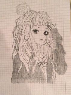 Manga looking girl experiment