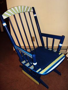Hand painted Rocking chair. To see more go to the site!