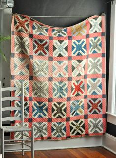 Antique Vintage Quilts | Antique Vintage Handmade Patchwork Quilt Cross by ... | Antique quilts