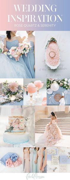 Rose Quartz & Serenity Wedding Inspiration   Foxblossom Co.