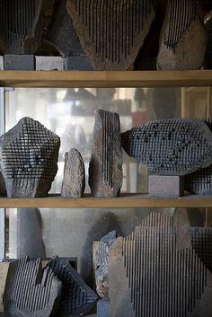 Pinuccio Sciola sculptures by Abstract Sculpture, Sculpture Art, Sculptures, Showroom Interior Design, Stone Sculpture, Sgraffito, Stone Carving, Stone Art, Installation Art