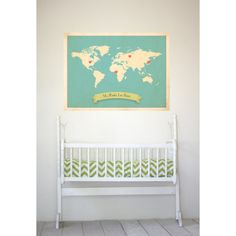 How perfect is this for my band of gypsies? World Roots Map 18x24 Customized Print (Blue). $50.00, via Etsy.