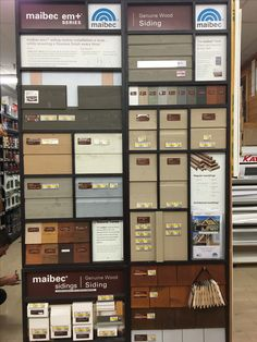MAIBEC real wood, pre-finished siding, sold in Home Hardware