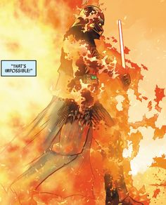 Through the Flames in Darth Vader #1 (2020) - Raffaele Ienco & Neeraj Menon
