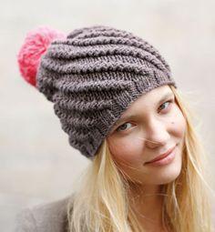 Bobble Hat by Phildar Kids Knitting Patterns, Free Knitting, Knitting Projects, Crochet Patterns, Knitting Needles, Crochet Wool, Diy Crochet, Knitted Hats, Crochet Hats