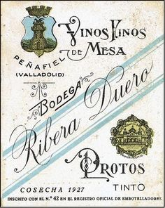 Primera etiqueta D.O. Ribera del Duero