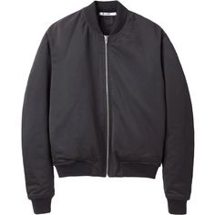T by Alexander Wang Satin Bomber Jacket (1.830 RON) ❤ liked on Polyvore featuring outerwear, jackets, tops, coats, coats & jackets, flight bomber jacket, satin bomber jacket, black jacket, bomber jacket and flight jacket