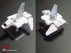 Sentinel Landing Craft | Mel Miniatures  #Sentinel #Landing #Craft #Mel #Miniatures #Fantasy #Flight #Star #Wars #Miniature #Custom #Painted #X #Wing