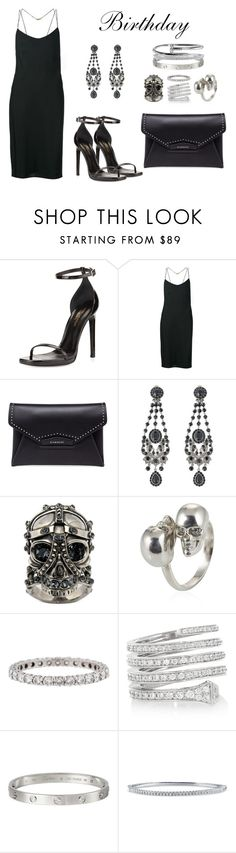 """TODAY'S MY BIRTHDAYY"" by anaelle2 ❤ liked on Polyvore featuring Yves Saint Laurent, Calvin Klein Collection, Givenchy, Alexander McQueen, Tiffany & Co., Gucci, Cartier and BERRICLE"