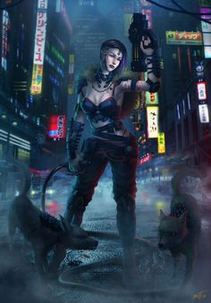 Cyberpunk girl by feintbellt.★ We recommend Gift… Cyberpunk Rpg, Cyberpunk Girl, Female Character Concept, Character Art, Character Ideas, Character Design, Sci Fi Characters, Shadowrun, Sci Fi Art