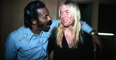 Gregg Allman and Chuck Berry  after Berry's concert at the Roxy Theater in Los Angeles, circa 1975   Favorite Music   Pinterest   Los angeles, Angeles and The …