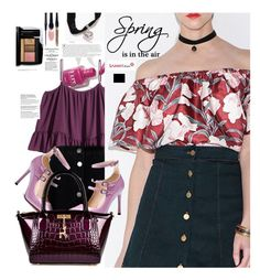 """Sammydress.com: Sprig is in the air"" by hamaly ❤ liked on Polyvore featuring Roksanda Ilincic, Lancôme, Volant, Miss Selfridge, shoes, ootd, bags, blouse and sammydress"