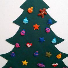 Manualidades para niños :Árbol de Navidad de Fieltro