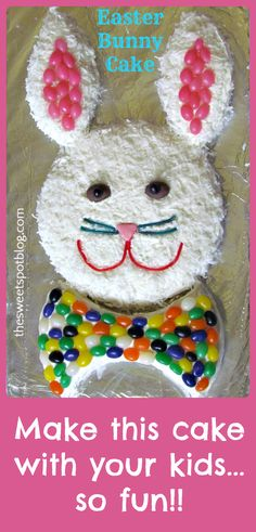 Vintage Easter Bunny Cake from the '70's -- I have such great memories making this cake with my mom when I was little!  from The Sweet Spot Blog #eastercrafts #easterideas