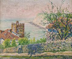 """Vista de La Galea"", de Juan José Rochelt Amann (1881-1953). Óleo sobre lienzo (50x60 cm.)"