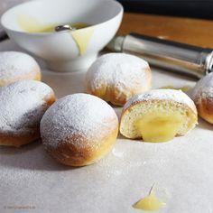 Backofen-Berliner mit Lemon curd Füllung