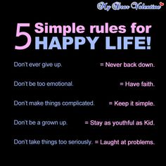 5 simple rules for happy life life quotes quotes quote happiness happy life