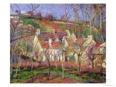The Red Roofs, or Corner of a Village, Winter, 1877 Giclee Print by Camille…