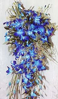 Bouquet Bridal: Blue Orchid Bouquets Yes.