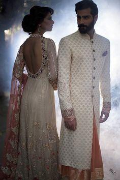 Deepak Perwani Stunning Bridal Dresses 2016 are here now. The famous fashion designer Deepak Perwa. Sherwani For Men Wedding, Wedding Dresses Men Indian, Wedding Dress Men, Indian Bridal Outfits, Wedding Suits, Bridal Dresses, Sherwani Groom, Groom Outfit, Groom Dress