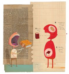 Illustration from 'The Incredible Book Eating Boy' by Oliver Jeffers--Jeffers on his career