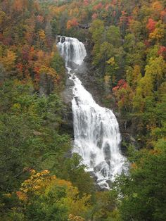 Lower White Waterfall - near Lake Jocassee and Lake Keowee, South Carolina;  photo by Aimee McConnell