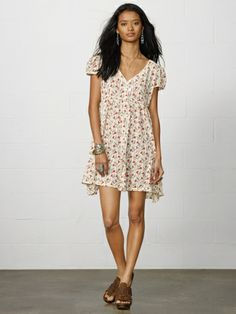 Floral Button-Front Dress - Denim & Supply  Short Dresses - RalphLauren.com
