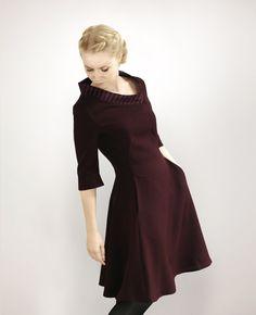 Y.V.E.T  bordeaux v-neck dress von Femkit auf DaWanda.com