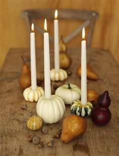 Thanksgiving Decorating Ideas: Candles #thanksgiving #fall #decorating