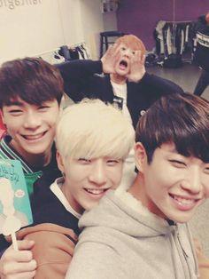 [16.10.2015] Sanha, MoonBin, JinJin e MyungJun on twitter