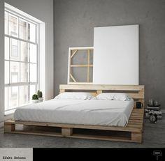 Sypialnia z palet euro