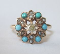 Antique Victorian Diamond Turquoise and by magwildwoodscloset, $499.00
