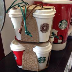 Starbucks ornaments, want!! #starbucks
