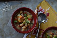 African Coconut Chickpea Soup