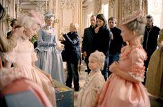 Sofía Coppola en el set de Marie Antoinette (2006).