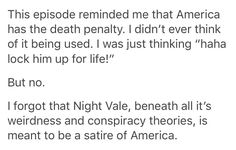 Wait....You're telling me that the all this fun bullshit that goes on in the show is meant to be a satire of some aspect of American culture? Like Desert Bluffs is the factory-worker side of it with human machines and Night Vale is the patron side of it all?
