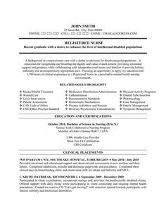 nursing resume on pinterest rn resume new grad nurse and s7trp7tx - Nurse Resume Template