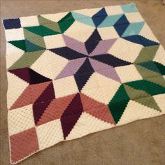Carpenters wheel crochet blanket