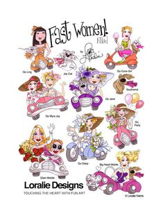 Fast Women Filled Embroidery Design Collection  by loraliedesigns